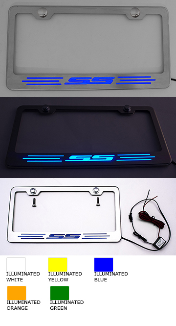 Camaro SS Illuminated License Plate Frame - Choose Color-ChevyMall