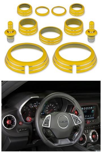 2010 - 2015 Camaro Interior Knob Kit (Color Matched) - ChevyMall