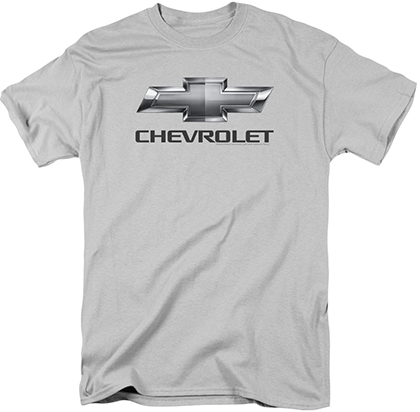 Chevrolet Bowtie Silver T-Shirt (size Large only)-ChevyMall