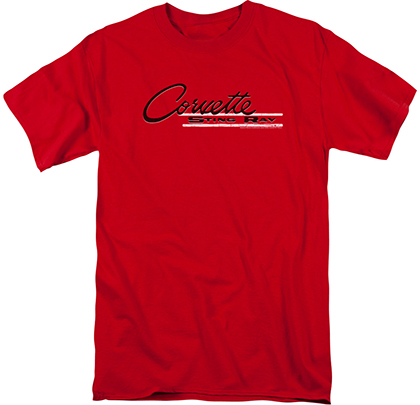 C2 Corvette Sting Ray Vintage Logo T Shirt Chevymall
