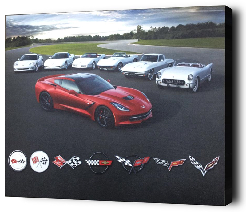 Corvette Generations Gallery Canvas-ChevyMall