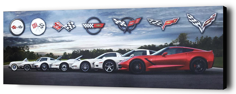 Corvette Generations Gallery Canvas-ChevyMall