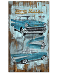 Chevrolet Bel Air Distressed Wood Sign