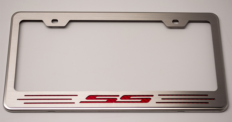 camaro ss license plate frame choose color