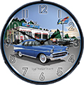 Chevy Vintage 1957 Bel Air Rocket Gas Wall Clock