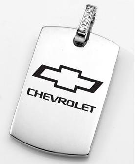 Chevrolet Bowtie Dog Tag Pendant Chevymall