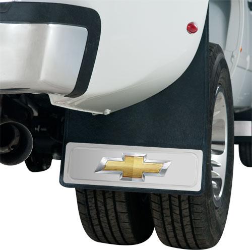 Silverado Bowtie Dually Mud Flaps 20 X 29 Pair-ChevyMall