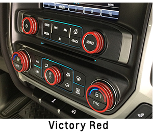 2014 2017 Silverado Interior Knob Kit Choose Your Color Chevymall