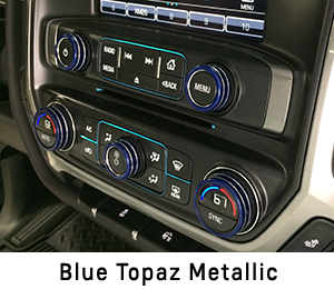 4 X 4 >> 2014 - 2018 Silverado Interior Knob Kit - Choose Your ...