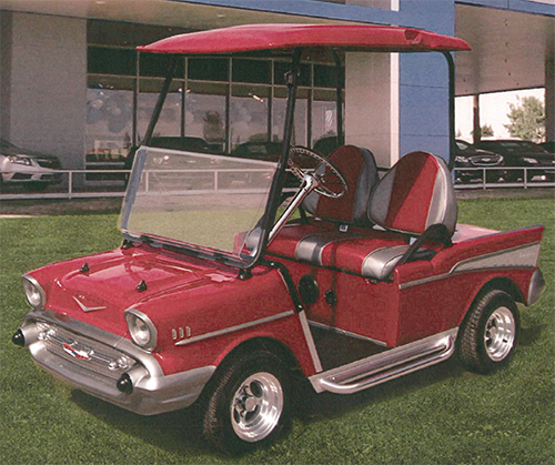 57 Chevy Golf Cart Custom Golf Cart 57 Chevrolet Chevymall