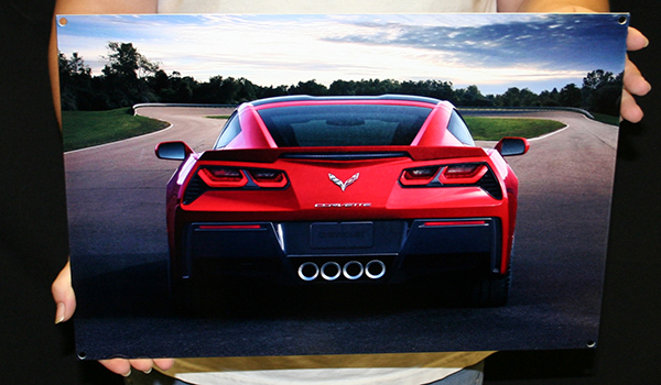 2014 C7 Corvette Stingray Metal Sign-ChevyMall