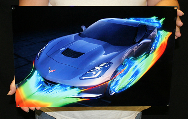 2014 Stingray Wind Tunnel Metal Sign Chevymall