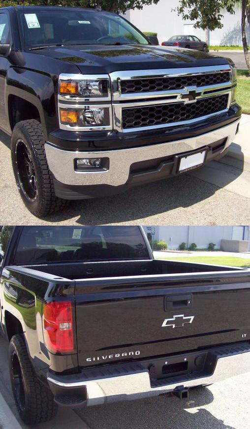 2014 2015 Silverado 1500 Insert Black Bowtie Emblem