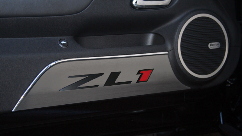 2012 2015 Camaro Zl1 Brushed Door Panel Kick Plates