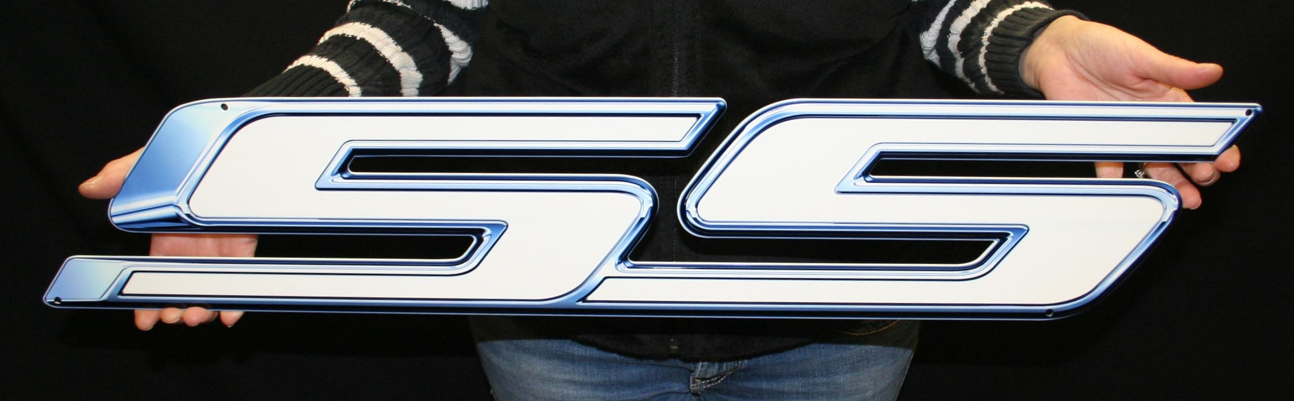 Camaro Pearl White SS Metal Sign-ChevyMall