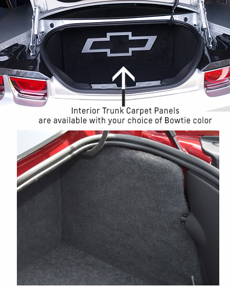 2016 - 2019 Camaro Bowtie Interior Trunk Panels-ChevyMall