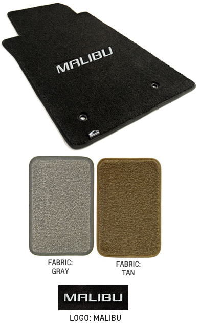 2016 2018 Malibu Logo Floor Mat Set Choose Color