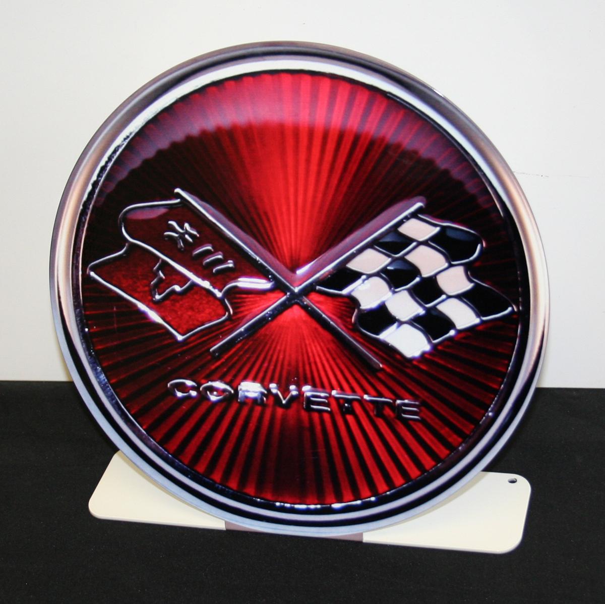 C3 Corvette Emblem Desk Stand-ChevyMall