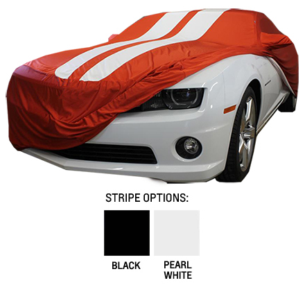 2010 2015 camaro satin stretch indoor inferno orange car cover chevymall. Black Bedroom Furniture Sets. Home Design Ideas