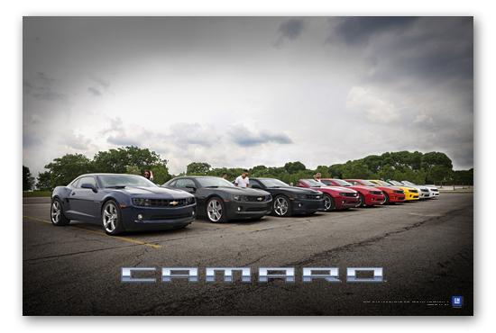 Camaro Lineup Art Poster-ChevyMall