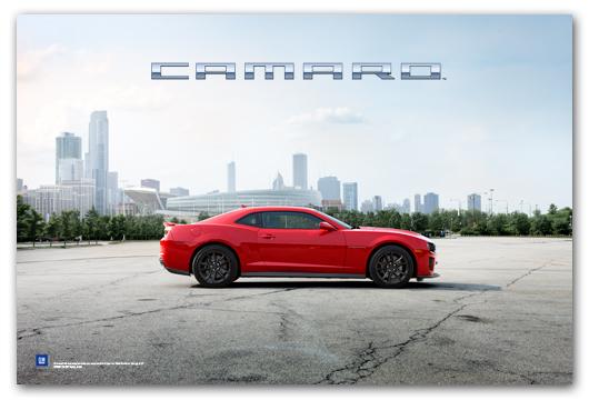 Camaro ZL1 Art Poster-ChevyMall