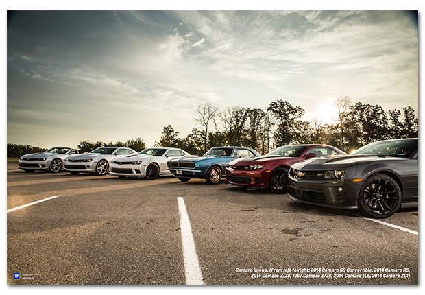 Camaro Line Up Art Poster Chevymall