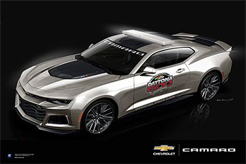 Camaro Zl1 Pace Car Art Poster Chevymall