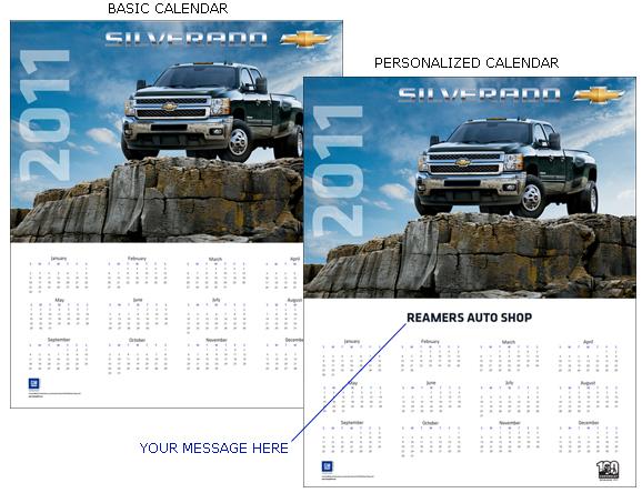 Chevy Silverado 3500 HD 2011 Calendar