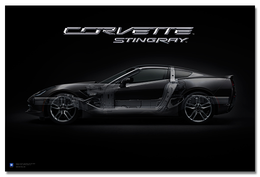Corvette Stingray Art Poster-ChevyMall