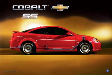 Cobalt SS Art Poster-ChevyMall