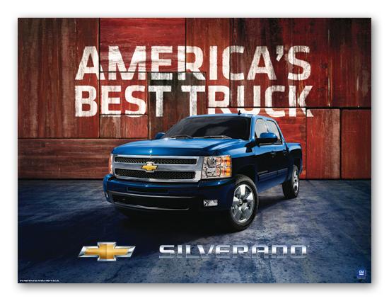 Silverado Americas Best Truck Art Poster Chevymall