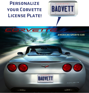 C6 Corvette Personalized License Plate Poster Chevymall