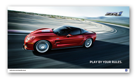 ZR1 Corvette Play by Your Rules Art Poster-ChevyMall