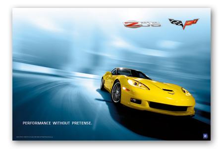 Z06 C6 Corvette Performance Art Poster-ChevyMall