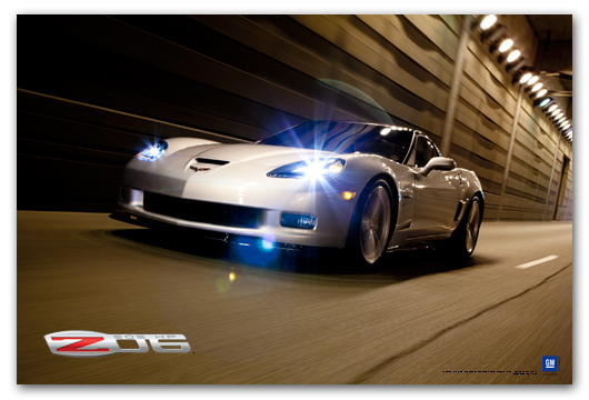 Z06 C6 Corvette Blade Silver Art Poster-ChevyMall