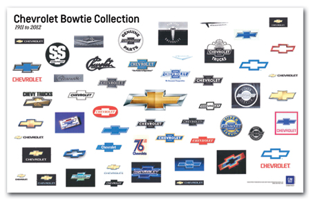 Chevrolet Bowtie Collection Art Poster-ChevyMall