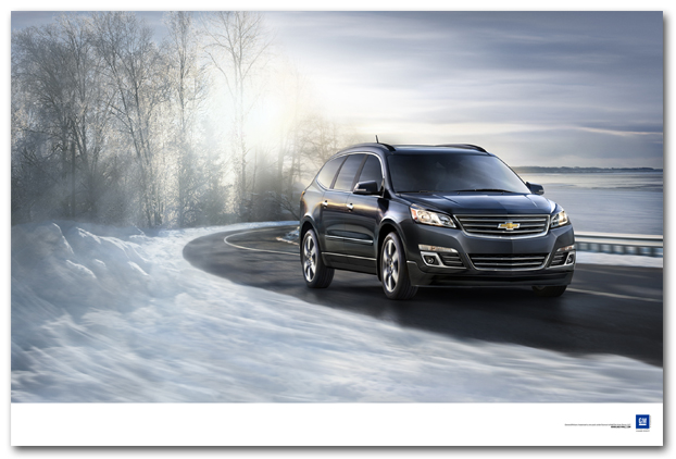 Traverse on a Winter Road Art Poster-ChevyMall
