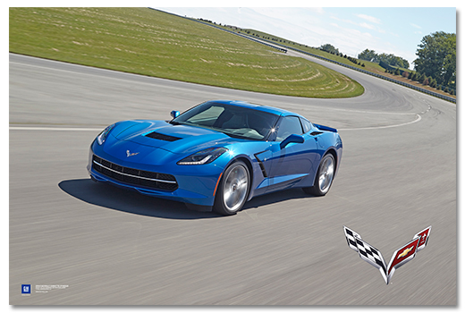 C7 Corvette Stingray Art Poster-ChevyMall