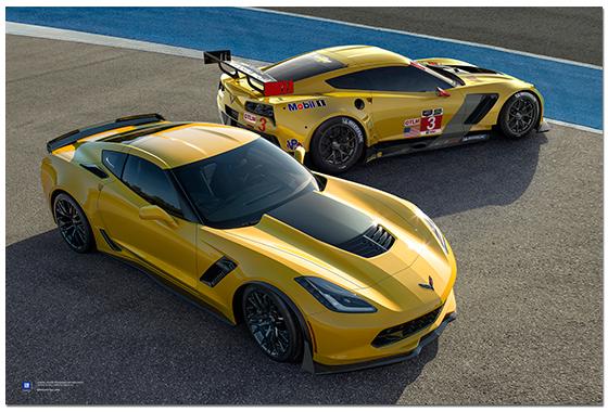 Z06 C7 Corvette C7r Art Poster Chevymall