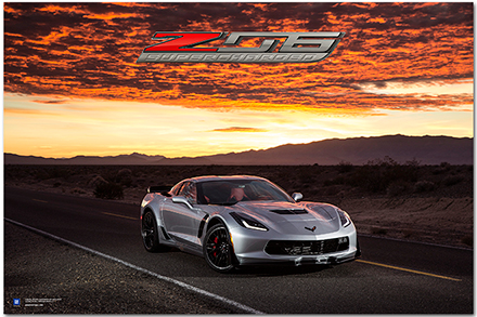 Z06 C7 Corvette Art Poster Chevymall