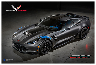 C7 Corvette Grand Sport Art Poster-ChevyMall