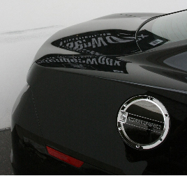 2010 2015 Camaro Locking Fuel Door Black Chrome Or