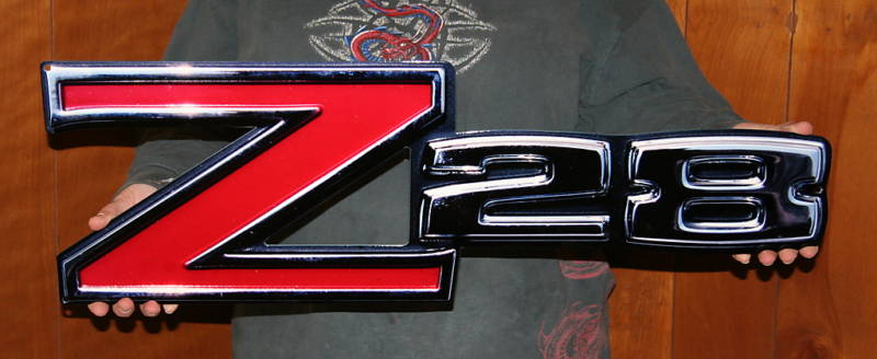 Classic Camaro Z/28 Emblem Metal Sign-ChevyMall