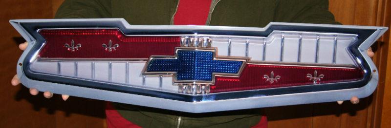 Chevrolet V8 Hood Emblem Metal Sign-ChevyMall