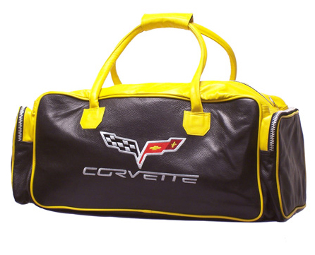 C6 Corvette Leather Duffel Bag-ChevyMall