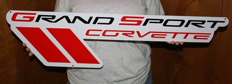 Grand Sport Corvette Metal Sign-ChevyMall