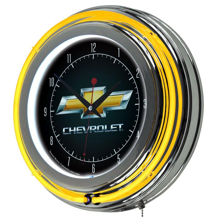 Chevrolet Bowtie Neon Clock Chevymall