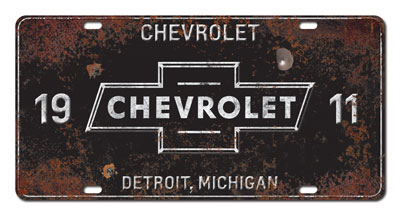 Aluminum License Plate Frame >> Chevrolet Vintage License Plate-ChevyMall
