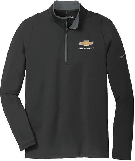 Chevrolet mens nike dri fit stretch cover up shirt chevymall for Dri fit t shirts manufacturer