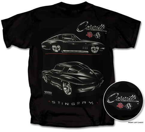 Corvette Stingray Black on C2 Corvette Stingray T Shirt Chevy Mall